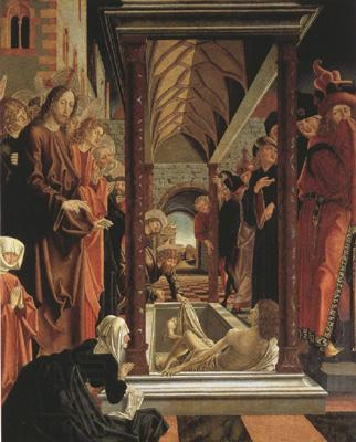 PACHER, Michael The Resurrection of Lazarus.From the St Wolfgang Altar (mk08)