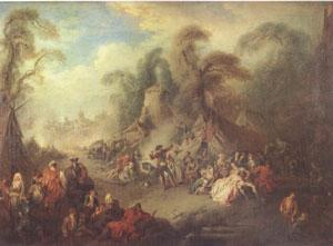 Pater, Jean-Baptiste A Country Festival with Soldiers Rejoicing (mk05)