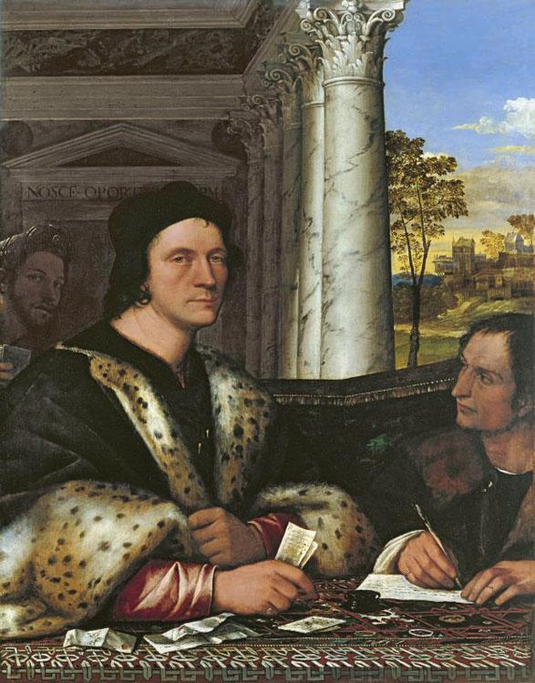 Sebastiano del Piombo Cardinal Carondelet and his Secretary (mk08) oil painting picture