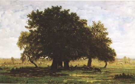 Theodore Rousseau Oak Trees near Apremont (mk09)