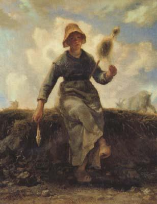 jean-francois millet The Spinner,Goat-Girl from the Auvergne (san20)