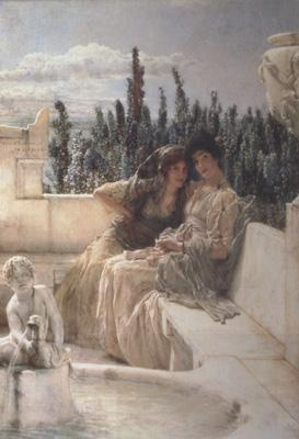 Alma-Tadema, Sir Lawrence Whispering Noon (mk23) oil painting picture