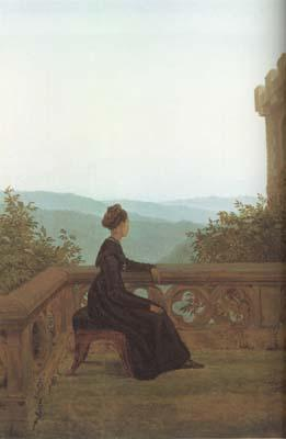 Carl Gustav Carus Woman on a Terrace (mk10) China oil painting art