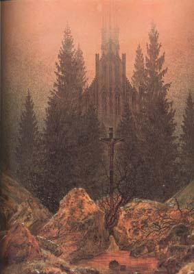 Caspar David Friedrich Cross in the Mountains (mk10) oil painting picture