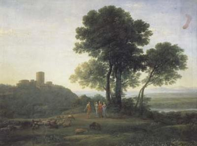 Claude Lorrain Landscape with Jacob and Laban (mk17) oil painting picture