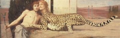 Fernand Khnopff Art,or The Sphinx.or The Caresses (mk19)