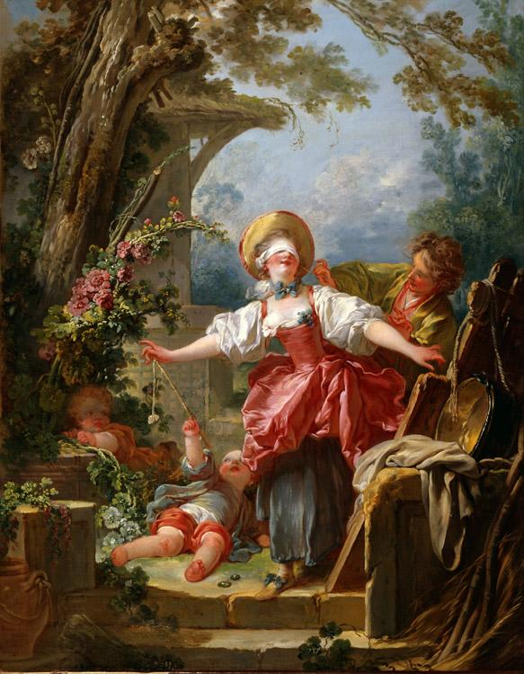 Jean Honore Fragonard Blind Man's Buff (mk08) oil painting picture