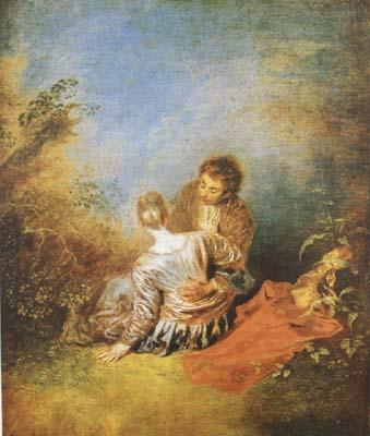 Jean-Antoine Watteau The Indiscretion (mk08) China oil painting art