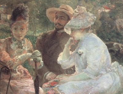 Marie Bracquemond On the Terrace at Sevres (nn02) oil painting picture