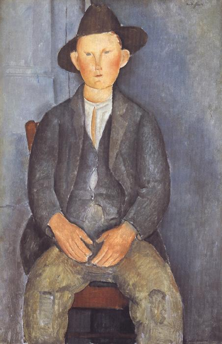 Amedeo Modigliani The Little Peasant (mk39) oil painting picture