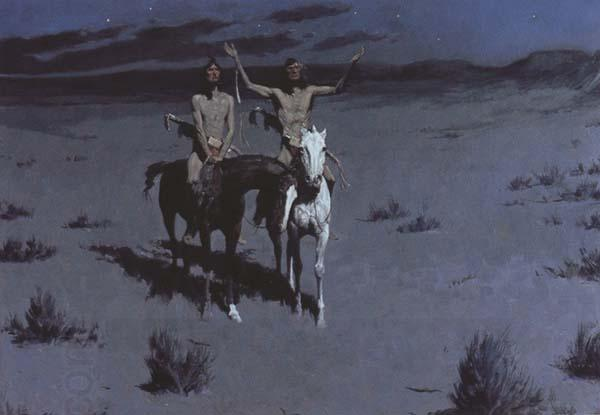Frederic Remington Pretty Mother of the Night-White Otter is No longer a boy (mk43)