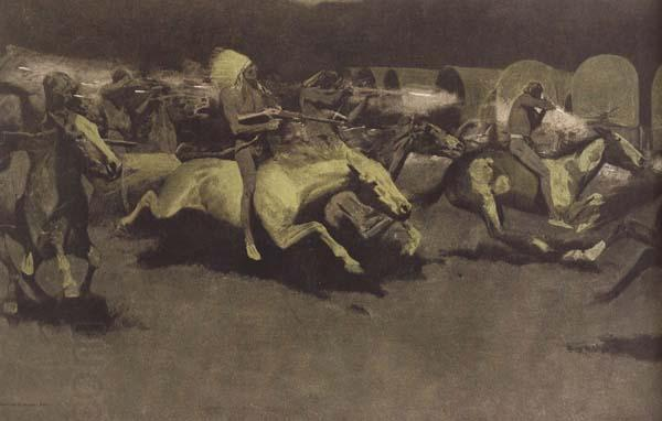 Frederic Remington A Night Attack on a Government Wagon Train (mk43) China oil painting art