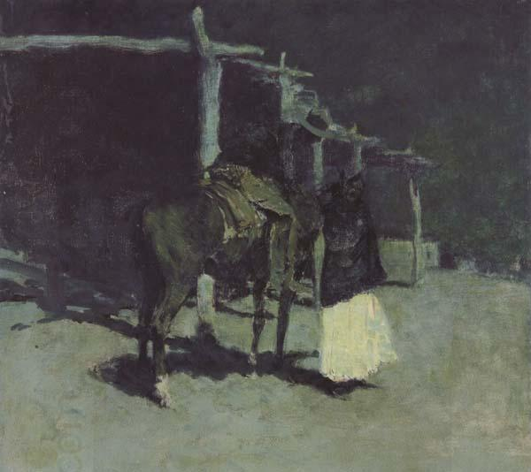 Frederic Remington Waiting in the Moonlight (mk43)