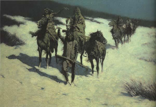 Frederic Remington Trail of the Shod Horse (mk43)