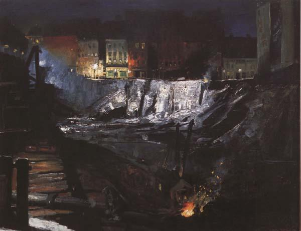 George Bellows Excavation at Night (mk43)