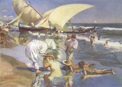 Joaquin Sorolla Beach of Valencia by Morning Light (nn02)