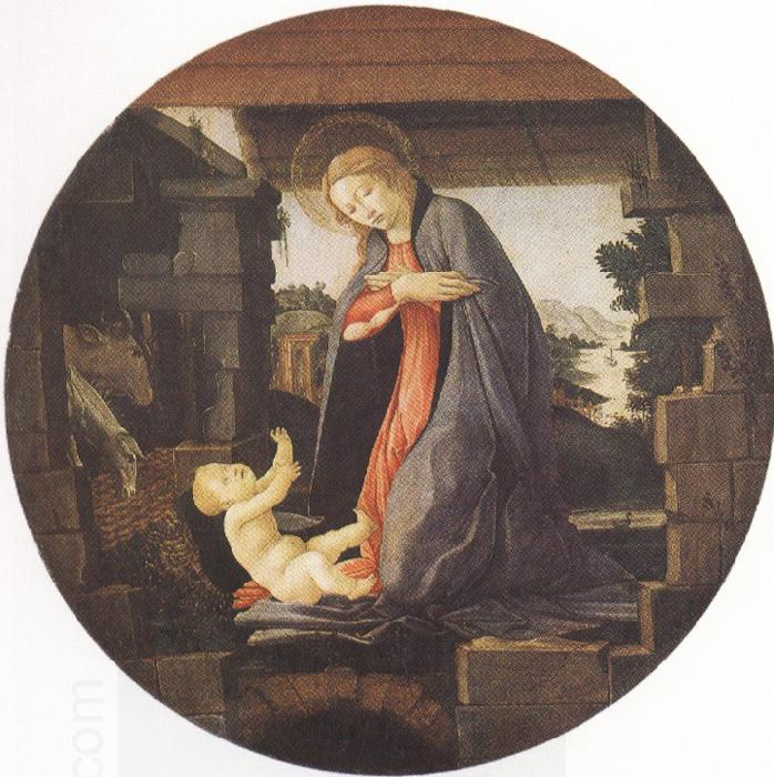 Sandro Botticelli Madonna in Adoration of the Christ Child (mk36)