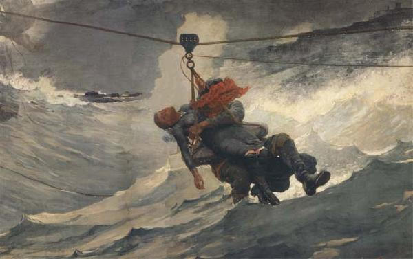 Winslow Homer The Life Line (mk44) China oil painting art