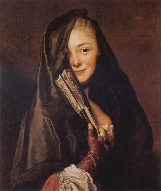 Alexander Roslin Woman with a Veil:Marie Suzanne Roslin oil painting picture