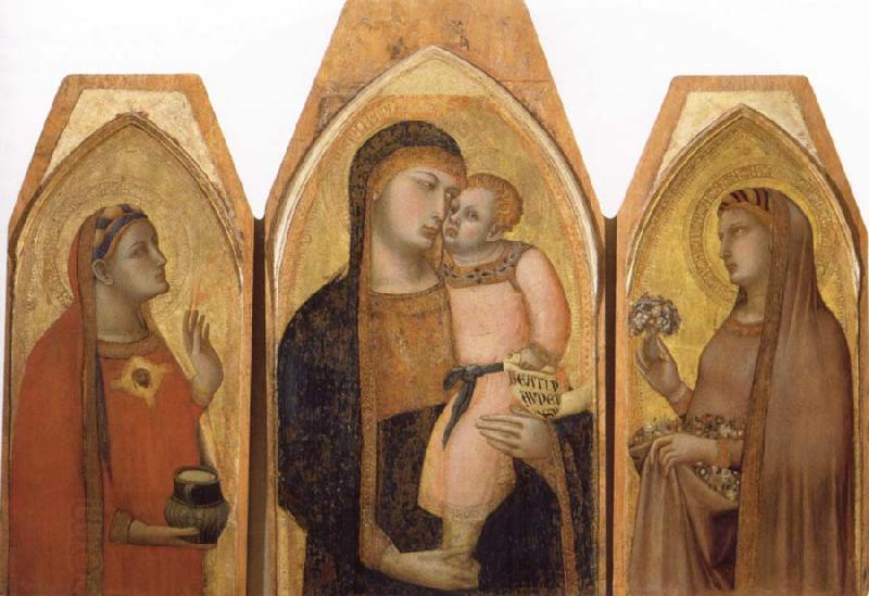 Ambrogio Lorenzetti Madonna and Child with Saints oil painting picture