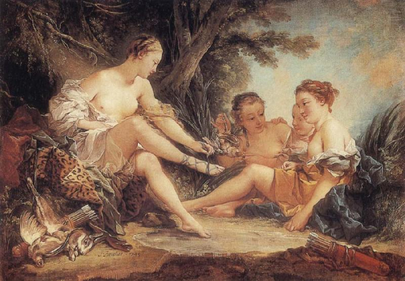 Francois Boucher Diana After the Hunt