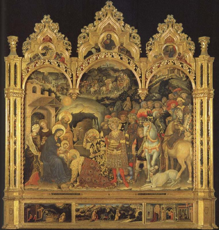Gentile da Fabriano Adoration of the Magi oil painting picture