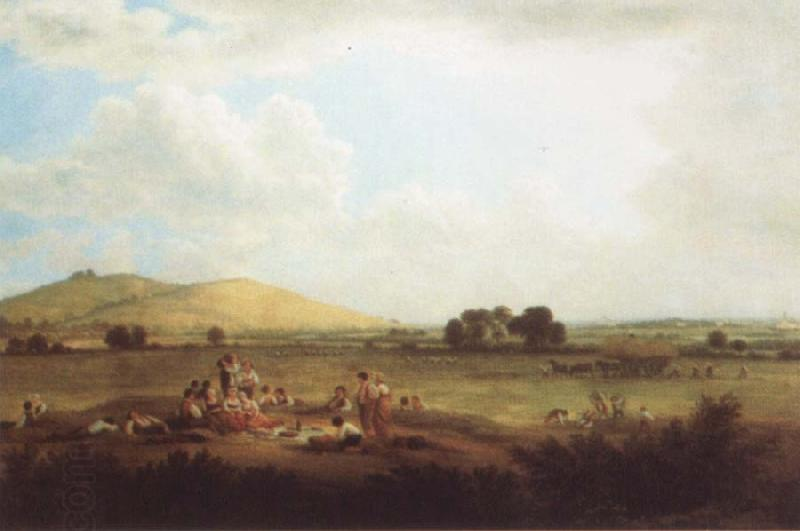 John glover Hayfield near Primrose Hill 1817 oil painting picture