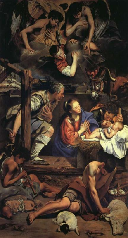 Maino, Juan Bautista del Adoration of the Shepherds oil painting picture