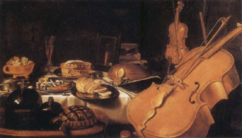 Pieter Claesz Still Life with Museum instruments China oil painting art