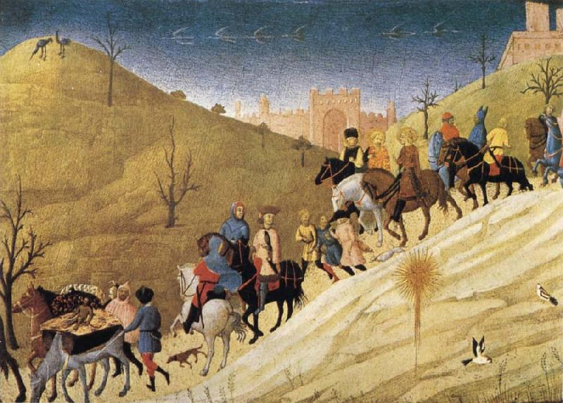 SASSETTA The Procession of the Magi oil painting picture